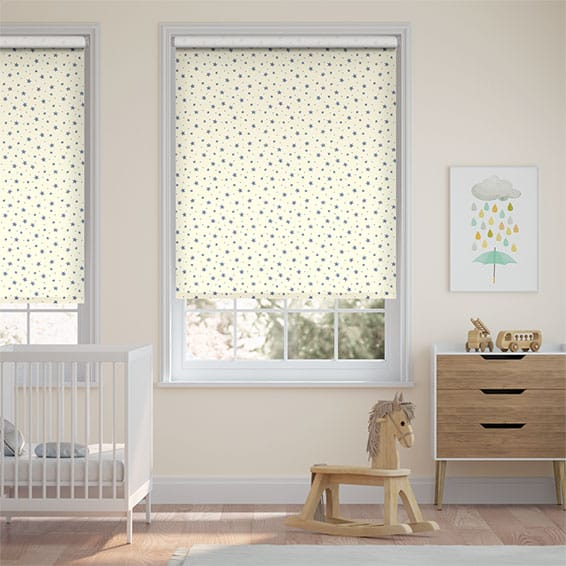 Starry Skies Stormy Blue Roller Blind