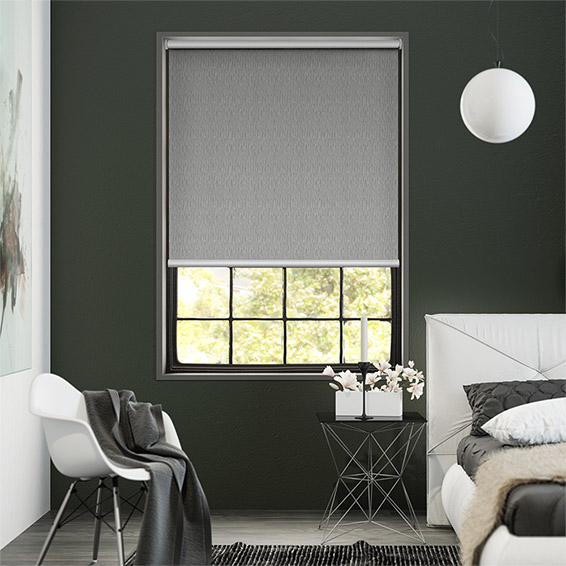 Static Pebble Grey Blockout Roller Blind