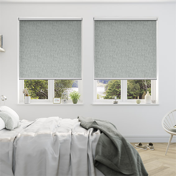 Stucco Silver Blockout Roller Blind