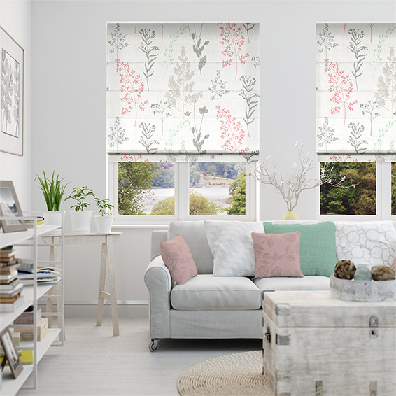 Summer Meadow Blossom Roman Blind