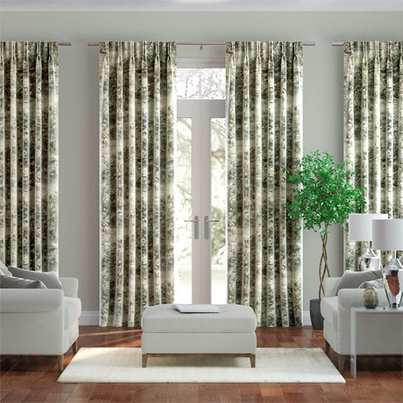 Sylvan Vintage Linen Pewter Curtains