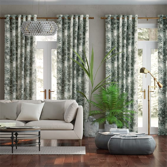 Sylvan Weave Pewter Curtains
