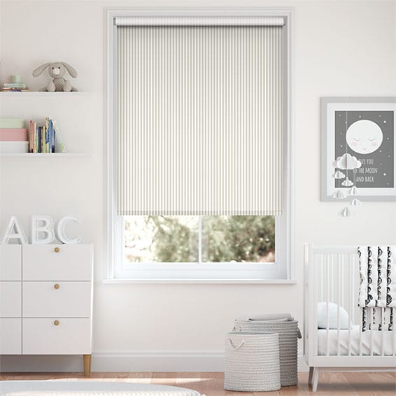 Tiger Stripe Dove Grey Roller Blind