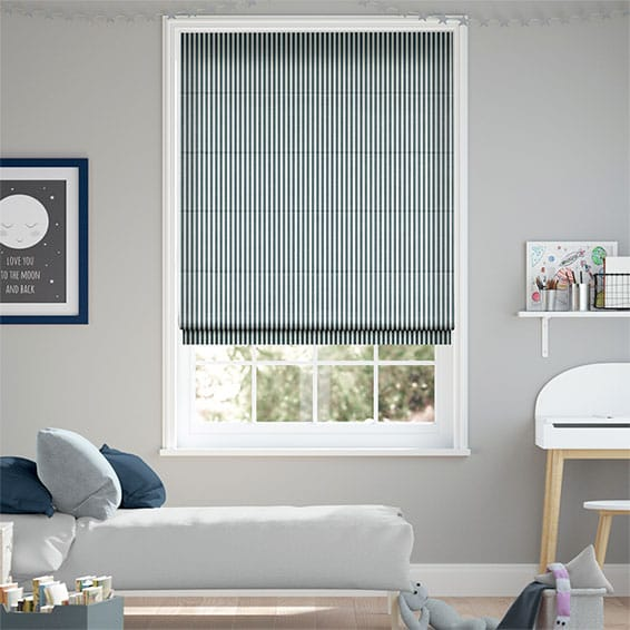 Tiger Stripe Indigo Roman Blind