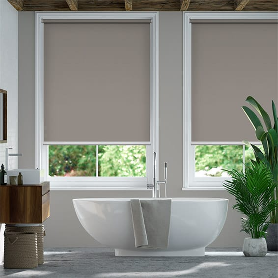 Titan Fairview Taupe Blockout Roller Blind