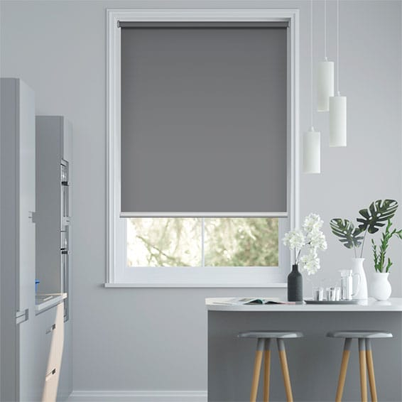 Titan Harbour Grey Blockout Roller Blind