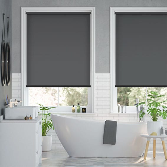 Electric Titan Kendall Charcoal Roller Blind