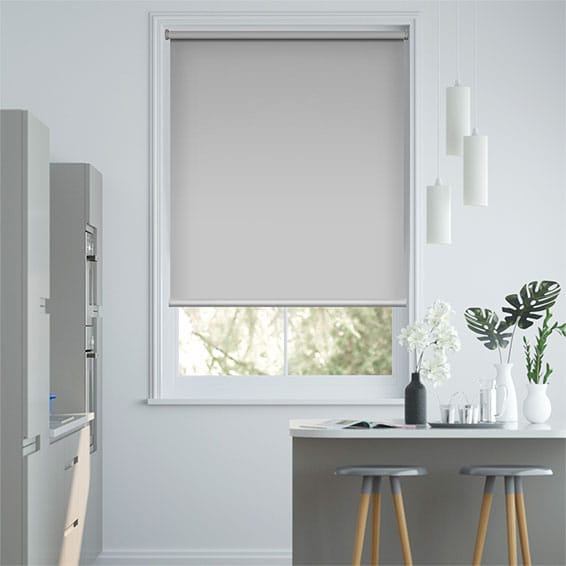 Titan Simply Grey Blockout Roller Blind