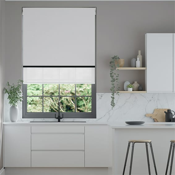 Titan Simply Grey & Modern Grey Double Roller Blind