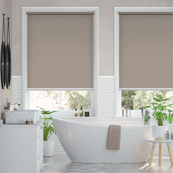 Electric Titan Warm Stone Roller Blind