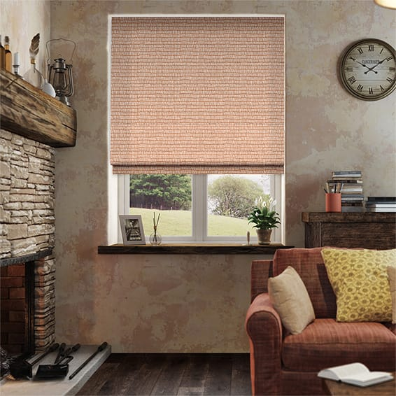 Tocca Flame Roman Blind