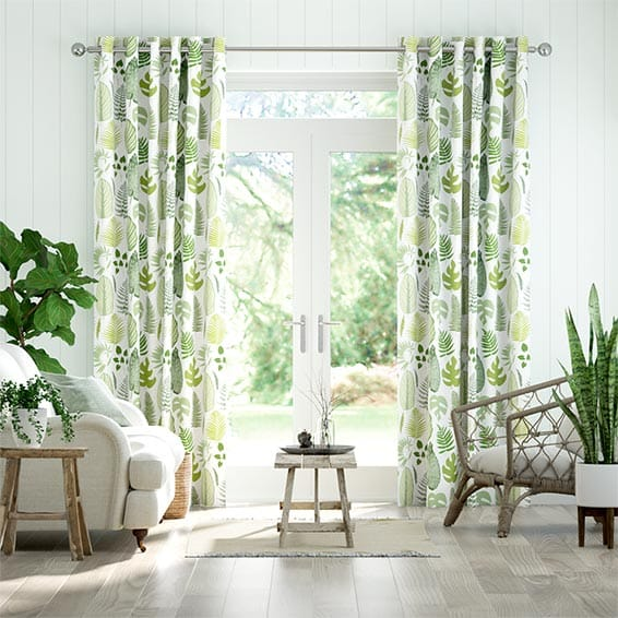 Tropical Leaves Moss Curtains