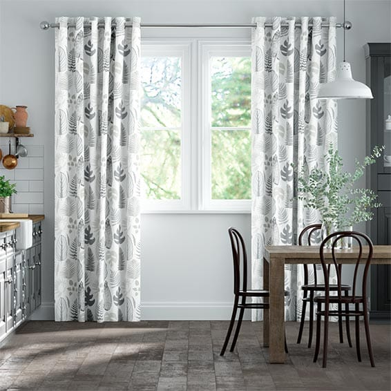 Tropical Leaves Pebble Curtains