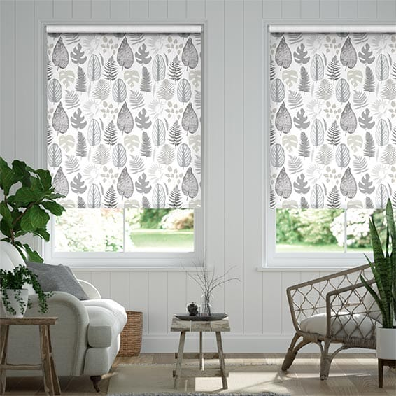 Tropical Leaves Pebble Roller Blind