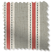 Twill Stripe Linen Strawberry Roman Blind slat image