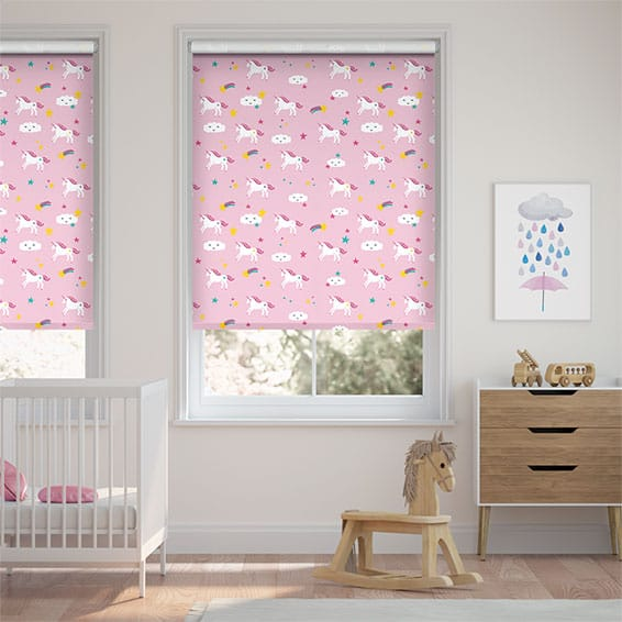 Unicorn Dreams Pink Roller Blind