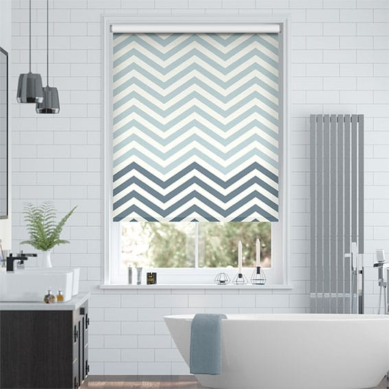 Vector Border Denim Roller Blind