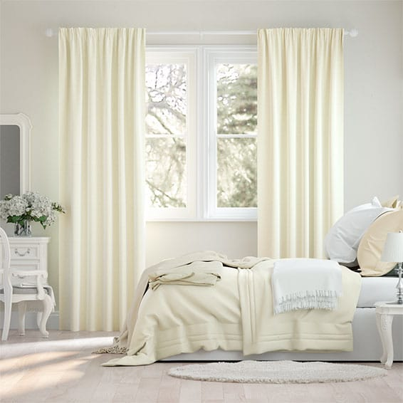 Plush Ivory Curtains
