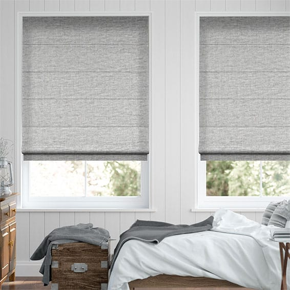 Plush Chenille Soft Grey Roman Blind Blinds Online