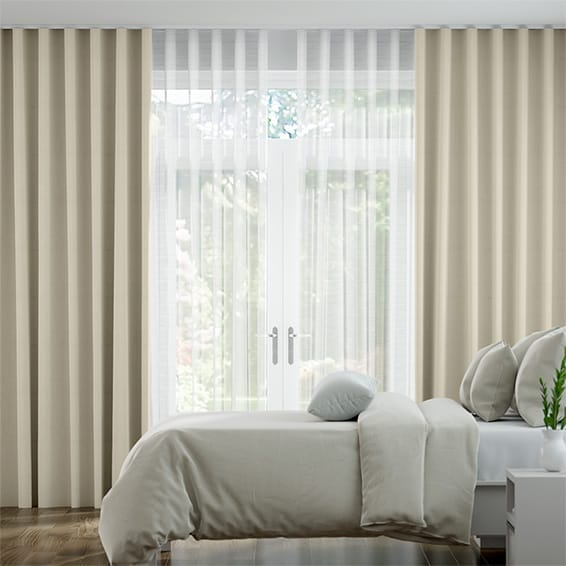 Double S-Fold Villa Ivory & Snow Curtains