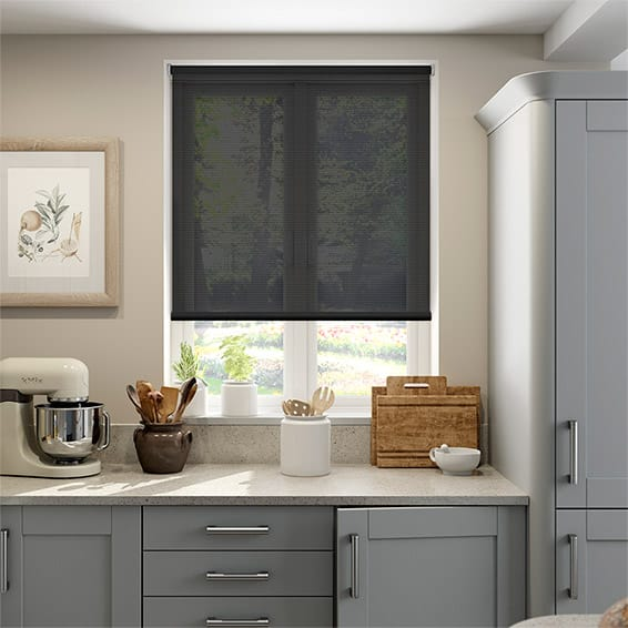 Horizon Black Sunscreen Roller Blind