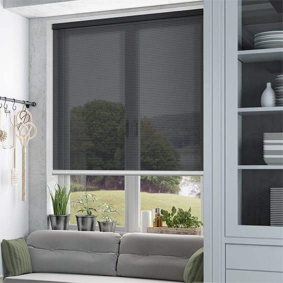 Horizon Charcoal Sunscreen Roller Blind Blinds Online