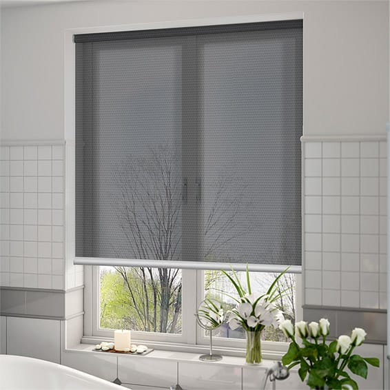 Horizon Charcoal Grey Sunscreen Roller Blind Blinds Online