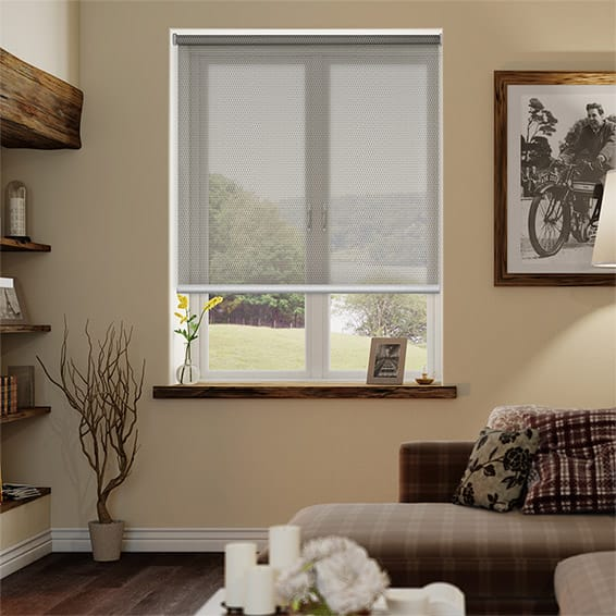 Horizon Linen Bronze Sunscreen Roller Blind