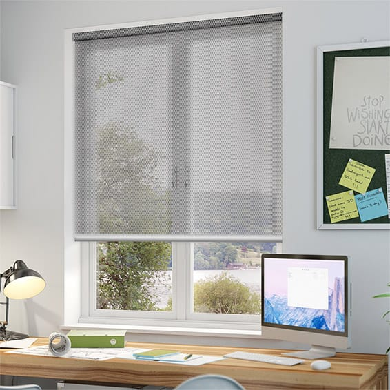 Horizon White Grey Sunscreen Roller Blind Blinds Online