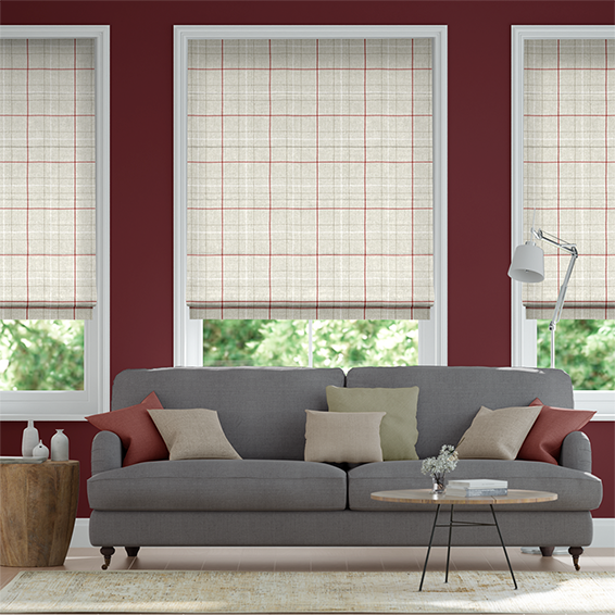 Washington Crimson Roman Blind