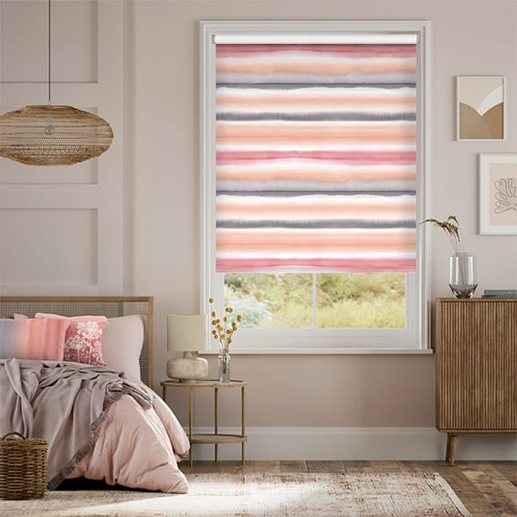 Watercolour Stripe Blush Roller Blind