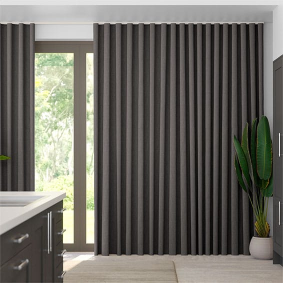 S-Fold Cavendish Grey Taupe Curtains