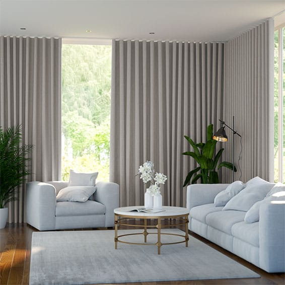 S-Fold Cavendish Grey Wash Curtains