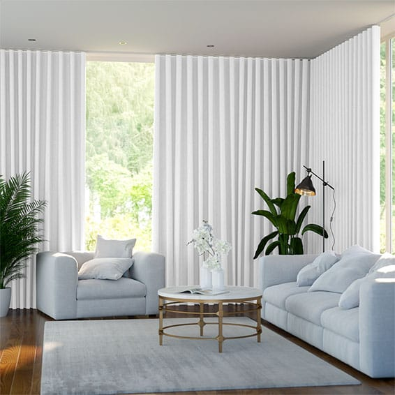 S-Fold Felicity True White Curtains