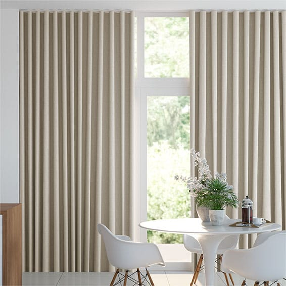S-Fold Linen Natural Curtains