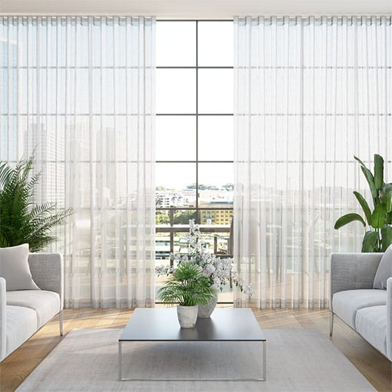 S-Fold Madagascar Sheer Neutral Curtains