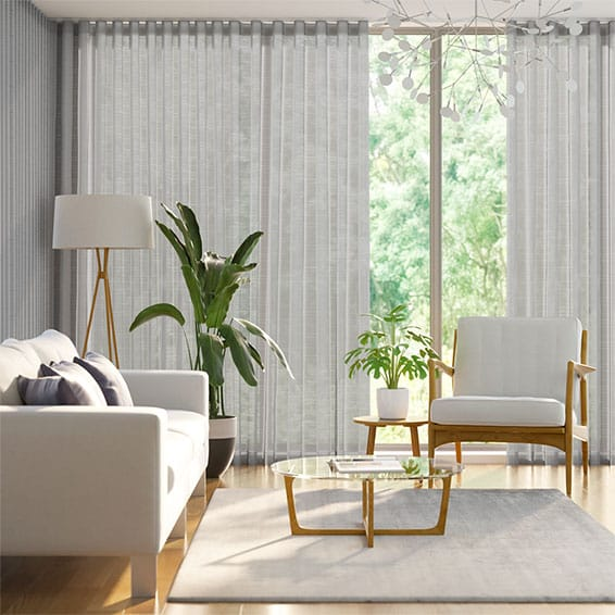 S-Fold Verbier Sheer Fog Curtains