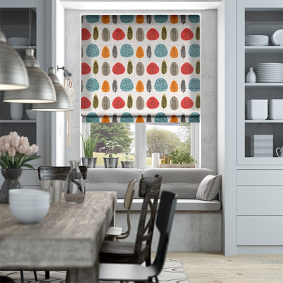 Wildleaf Autumn Tones Roman Blind