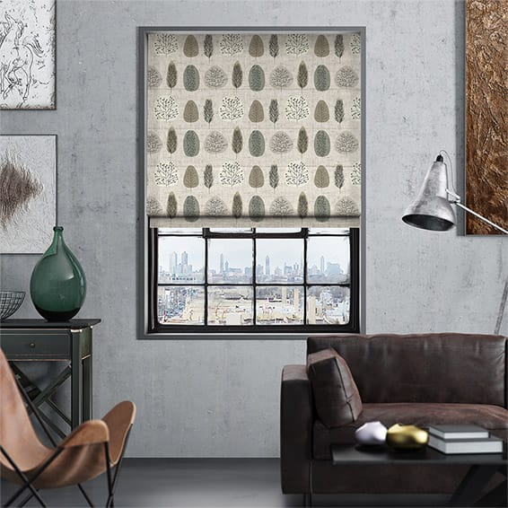 Wildleaf Linen Natural Roman Blind