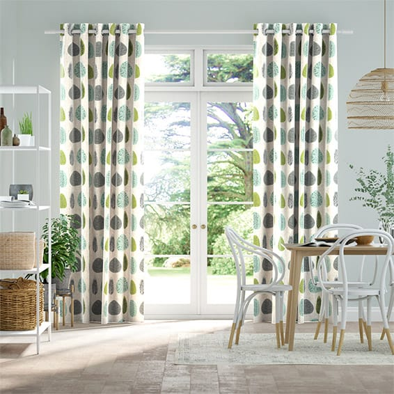 Wildleaf Spring Green Curtains