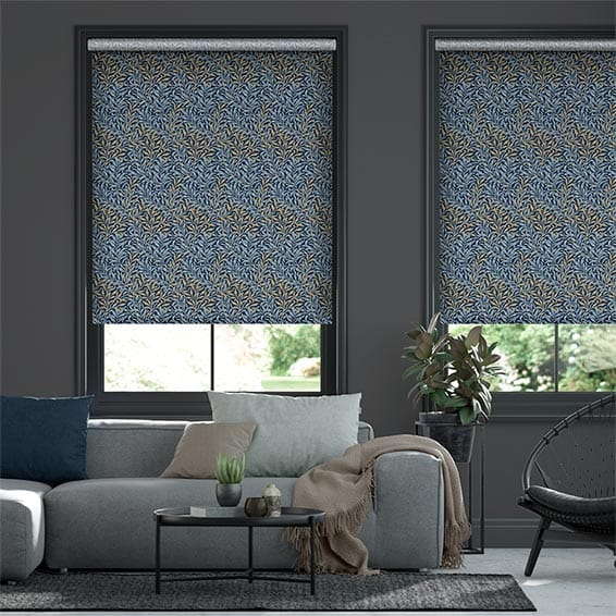 William Morris Willow Bough Midnight Roller Blind