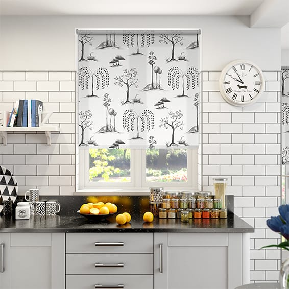Willow Tree Charcoal Roller Blind