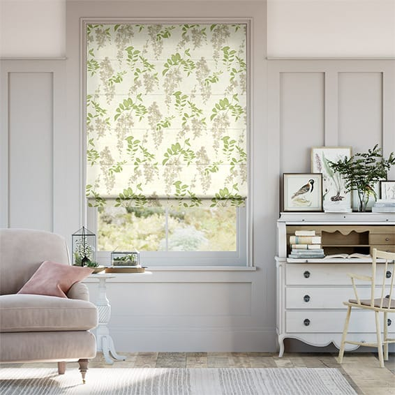 Wisteria Blossom Apple Roman Blind