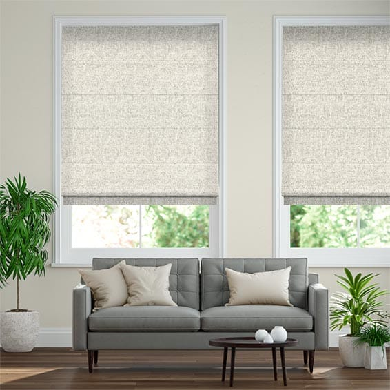 Zoroa Pale Neutral Roman Blind